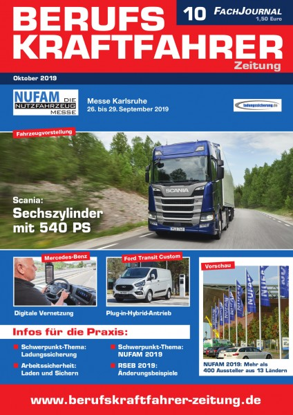 Berufskraftfahrer-Zeitung 10/2019