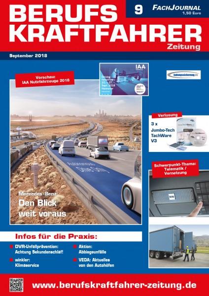 Berufskraftfahrer-Zeitung 09/2018