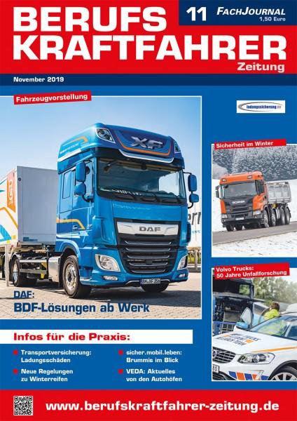 Berufskraftfahrer-Zeitung 11/2019