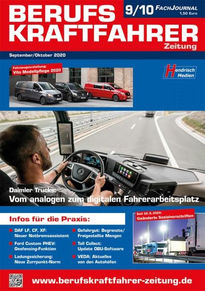 Berufskraftfahrer-Zeitung 09-10/2020