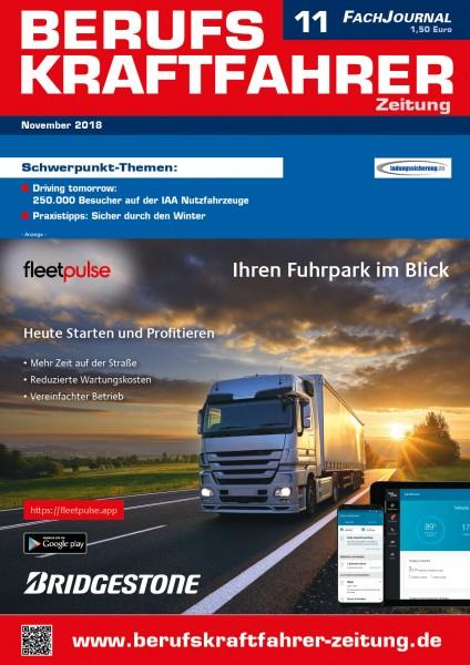 Berufskraftfahrer-Zeitung 11/2018