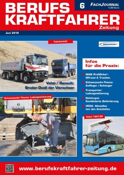 Berufskraftfahrer-Zeitung 06/2018