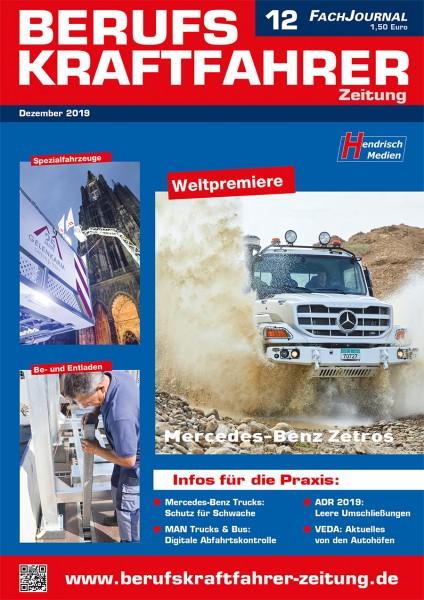 Berufskraftfahrer-Zeitung 12/2019