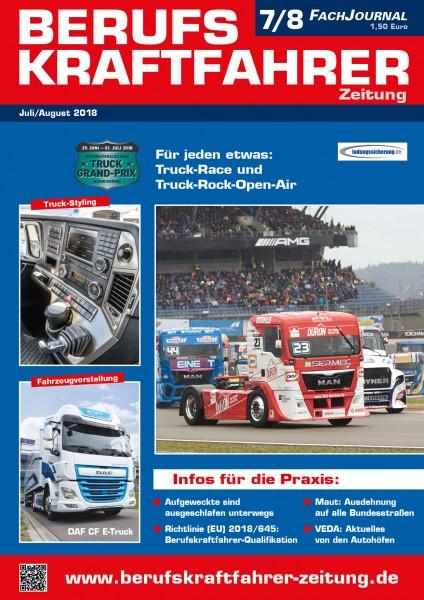 Berufskraftfahrer-Zeitung 07-08/2018