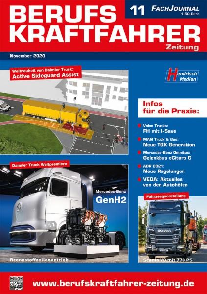 Berufskraftfahrer-Zeitung 11/2020