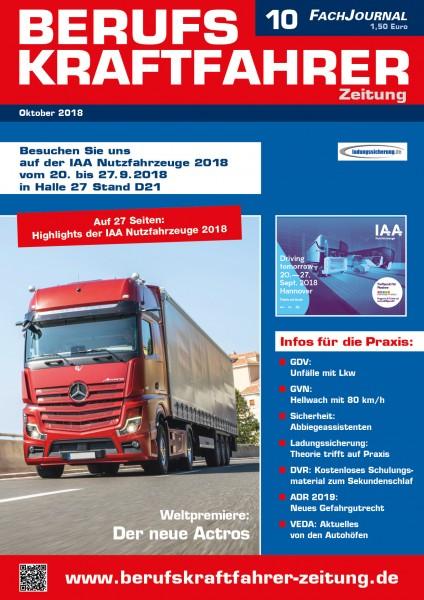Berufskraftfahrer-Zeitung 10/2018