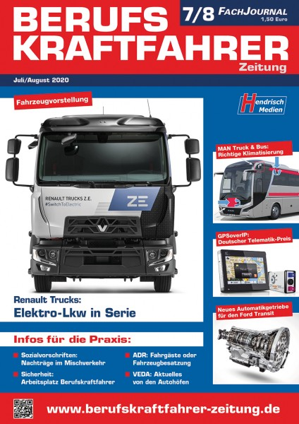 Berufskraftfahrer-Zeitung 07-08/2020
