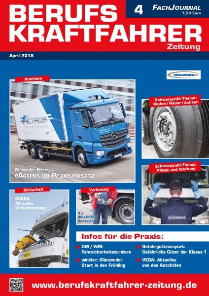 Berufskraftfahrer-Zeitung 04/2018