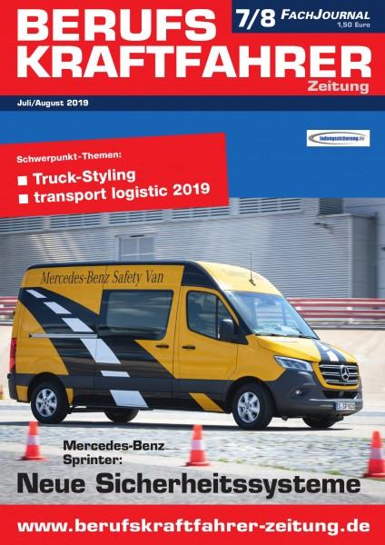Berufskraftfahrer-Zeitung 07-08/2019