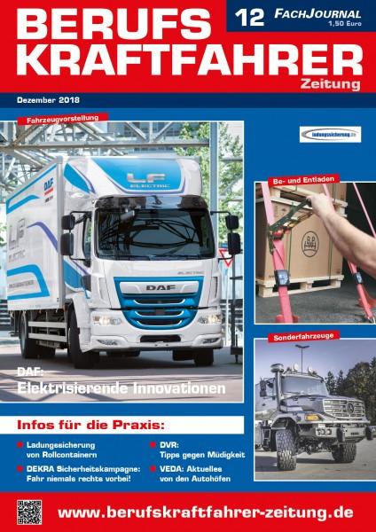 Berufskraftfahrer-Zeitung 12/2018